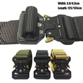 Military Tactical Belt Nylon Army Men Police Cinto Hunting Accessories SWAT Tactical Duty Equipment Metal Buckle Waist Belts