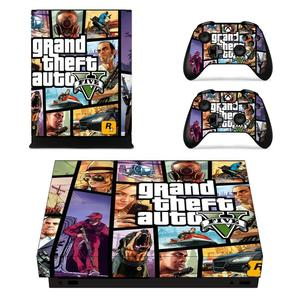 Image 4 - Grand Theft Auto V GTA 5 Game Cover Skin Console & Controller Decal Stickers for Xbox One X Skin Stickers Vinyl