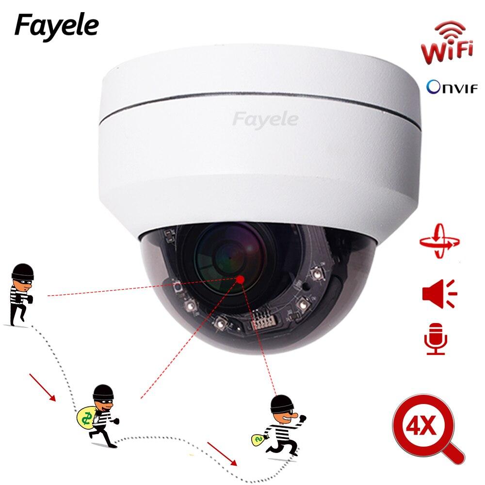 Home H.265 IR cámara de seguimiento automático inalámbrica, domo PTZ 2MP HD WIFI 1080P IP Cámara 4X Zoom digital IR 50M Audio bidireccional SD P2P 25FPS