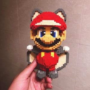 Image 2 - Weagleスーパーマリオピーチ姫クッパgoundhogムササビマリオ3Dモデルダイヤモンドミニビルディング小さなブロック玩具なしボックス