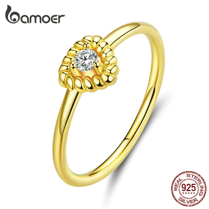 Bamoer Silver 925 Jewelry Design Triangle Finger Rings For Women Sterling Silver Fashion Jewelry Bijoux 2019 New Moda BSR084