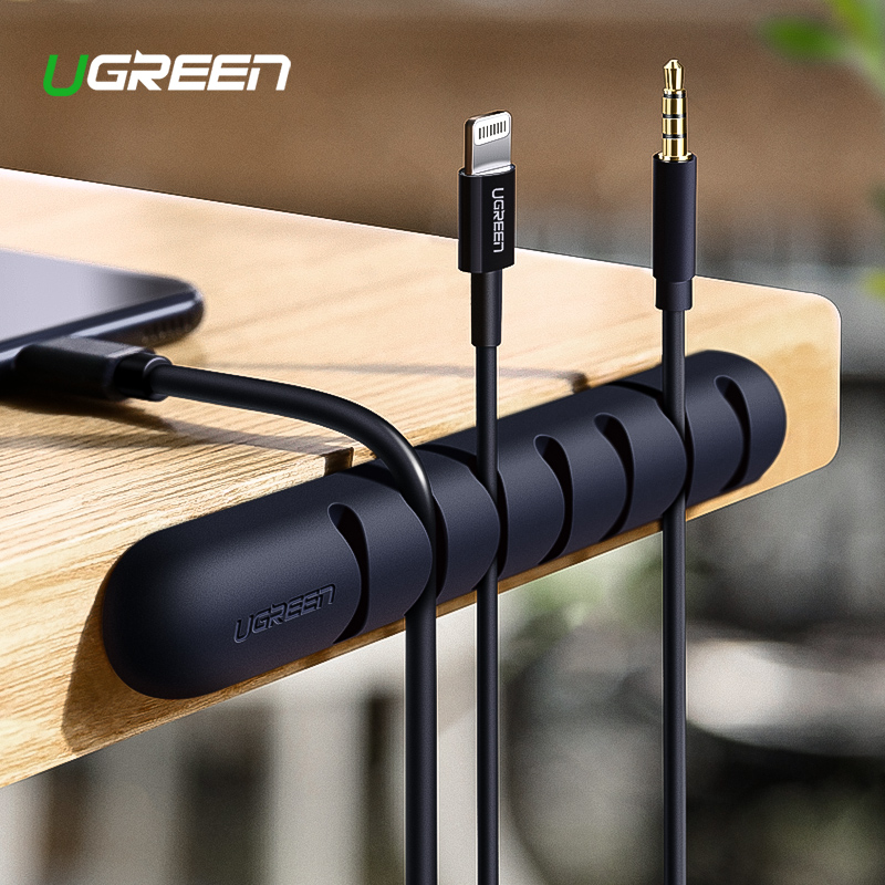 Ugreen Winder Cable-Holder Earphone Management-Clips Mouse Usb-Cable Silicone Flexible