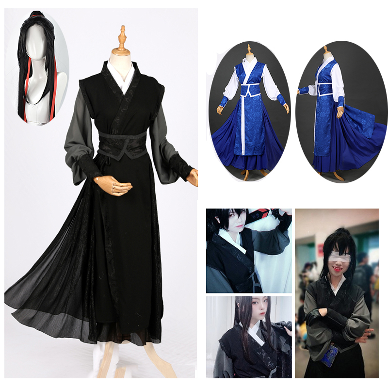 Anime XUE YANG Cospaly Grandmaster of Demonic Cultivation Cosplay Costume Mo Dao Zu Shi Costume Unisex for Halloween Party wig