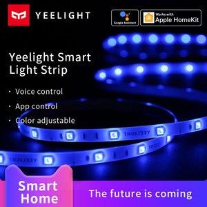 Image 1 - Yeelight Aurora taśma świetlna LED Plus inteligentne wsparcie Wifi Xiaomi Mi Home Apple Homekit Amazon Alexa asystent Google sterowanie głosowe