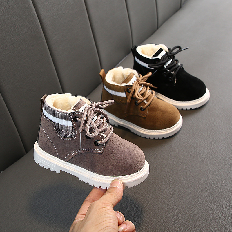 2019 Baby Girls Boys Winter Boots Infant Toddler Plush Boots Martin Boots Soft Bottom Non-slip Child Kids Outdoor Cotton Shoes