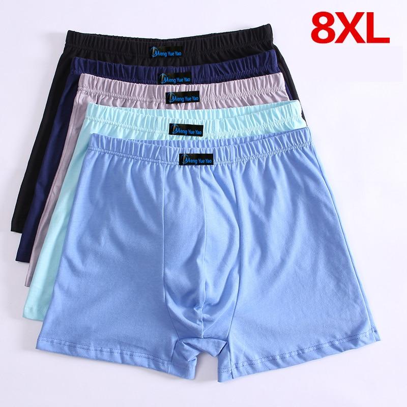5pcs/lot 8XL 7XL 6XL 5XL Men's Boxer Pantie Underpant Large Size Shorts Breathable Cotton Underwear 5XL 6XL 7XL 8XL Boxer Male