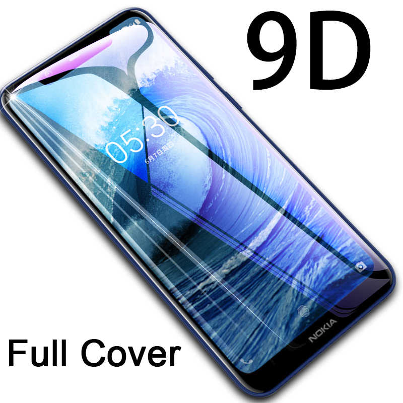 9D Screen Protector for Nokia 5.1 Plus 3.1 2.1 Glue Cover Protective Glass for Nokia 3.2 4.2 5 3 2 1 Plus Tempered Glass Film