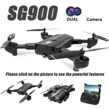 SG900 Wifi RC Drone with 720P HD Dual Camera GPS Follow Me Quadrocopter FPV Professional Drone Long Battery Life Toy For Kids