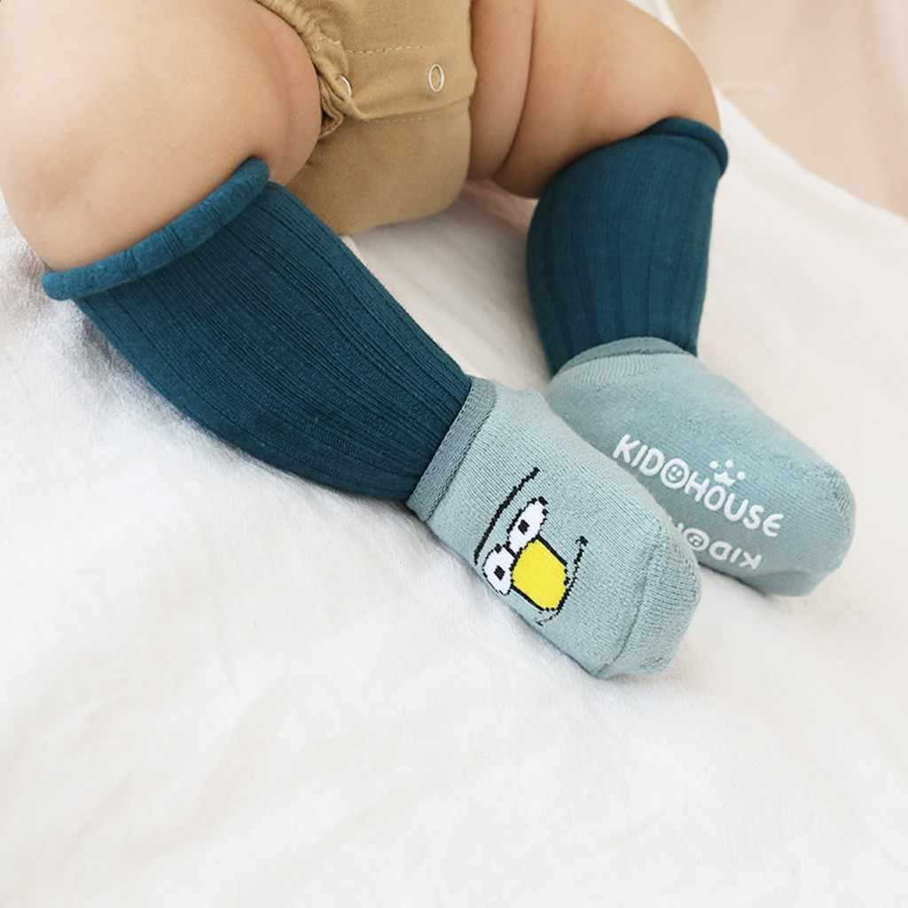 Calcetines para caminar de dibujos animados anillo de lana para niños calcetines gruesos antideslizantes cómodos suaves bebé skarpetki dziecko chaussette