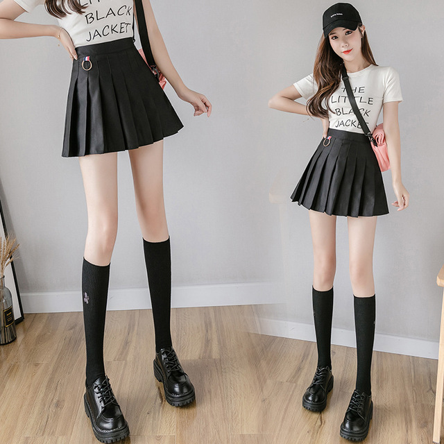 XS-3XL Women Skirt Preppy Style High Waist Chic Stitching Skirts Summer Student Pleated Skirt Women Cute Sweet Girls Dance Skirt 20