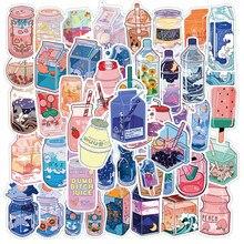 Стильные милые Мультяшные наклейки в стиле INS для напитков, наклейки для ноутбука, гитары, багажа, холодильника, водонепроницаемые граффити,...