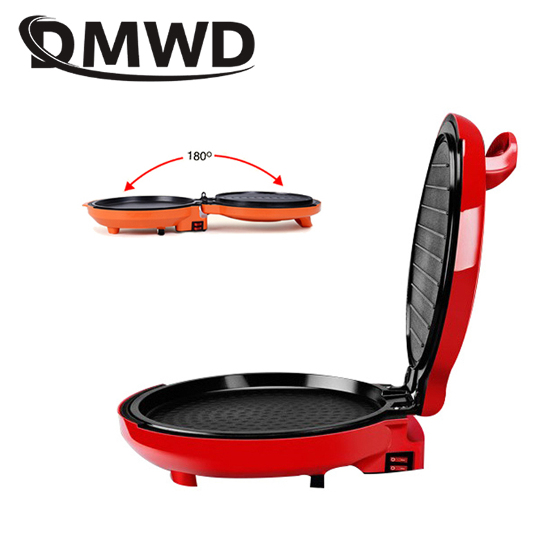 DMWD Multifunction two sides Electric Crepe Maker Pizza Pancake Machine electric grill Griddle non stick Roast baking pan EU US|Electric Skillets| |  - title=