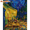 RUOPOTY Frame DIY Painting By Numbers Van Gogh Picture Coffee Paint By Numbers Handpainted Oil Painting For Home Decors Diy Gift