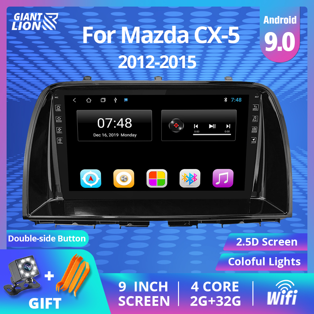 9'' IPS Car <font><b>Radio</b></font> For <font><b>Mazda</b></font> CX5 <font><b>CX</b></font>-<font><b>5</b></font> <font><b>CX</b></font> <font><b>5</b></font> 2012-2015 Car Multimedia Video Player Navigation GPS <font><b>Android</b></font> 9.0 No 2din Dvd Player image