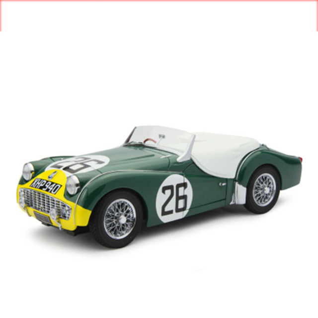 1/18 Scale Triumph Classic Car 1959 Le Mans No. 26 Diecast Alloy Rally Original Model Metal Vehicle Toy F Adult Fans Collection