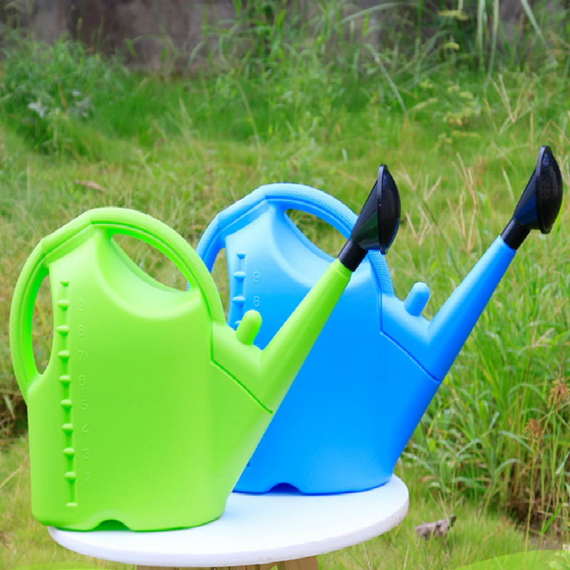 Plastic Watering Can 5/9 L Large Capacity Long Mouth Plant Watering Kettle Garden Tools Outdoor Irrigation Jug YHJ101702