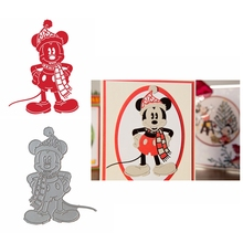 Metal Cutting Dies Akimbo Mouse With Christmas Hat Die Cuts For Card Making DIY Scrapbooking Decoration New 2019 Crafts Cards