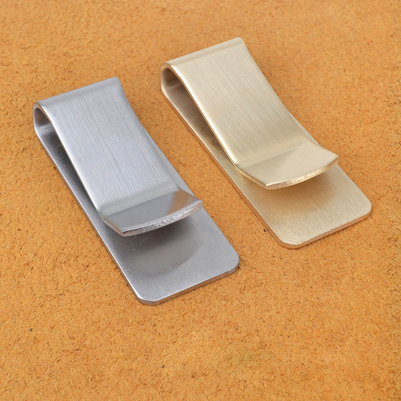 Handmade Stainless Steel Brass Paperclips Metal Clips Journal  Paper Binder Clips Folder School Office Supply Desk Organizer