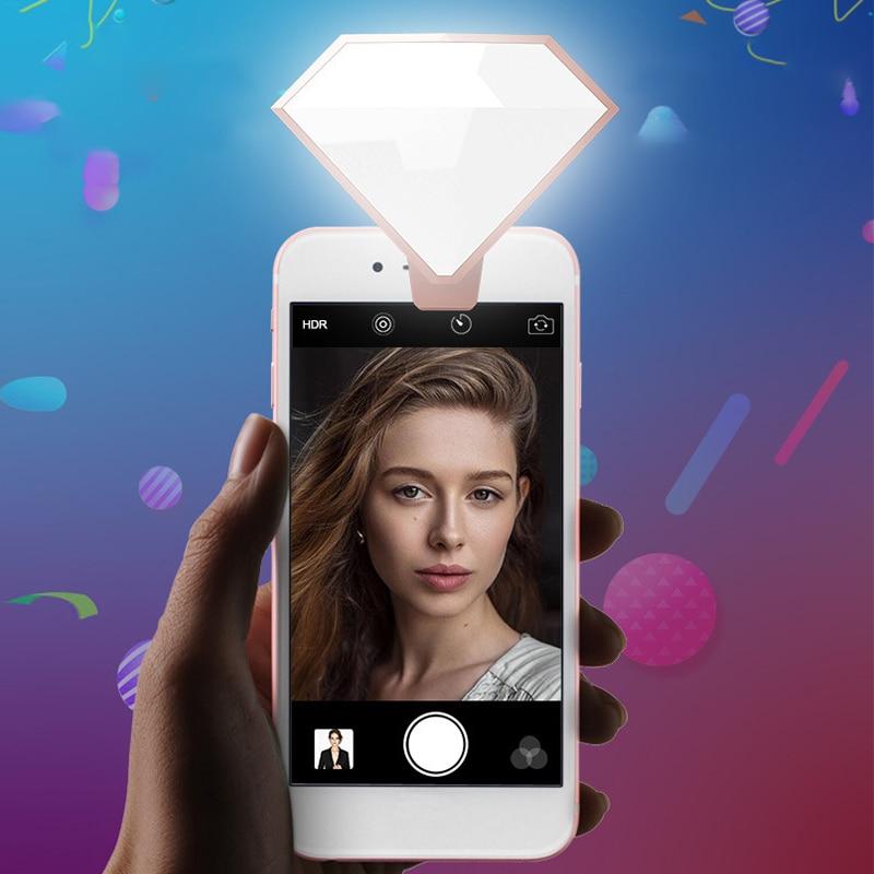 Mobile Phone Beauty Fill Lamp Diamond Edition Flash Lamp Live Broadcast Mobile Phone Fill Lamp Led Beauty Selfie Lamp