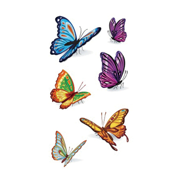 Wyuen Bird Temporary Tattoo for Adult  Waterproof Tatoo Stickers Body Art Beautiful 3D Butterfly Fake Tattoo for Women A-078 1