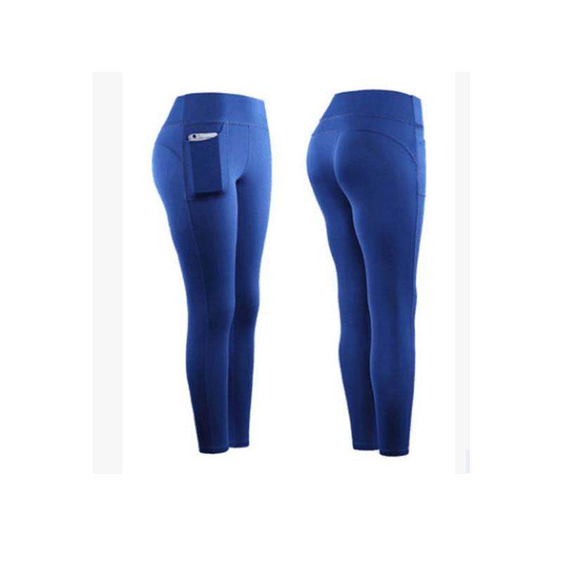 2020 Yoga Pants women Calf-length Pants Capri Pant Sport leggings Women Fitness Yoga Gym High Waist Leggins Black #0821