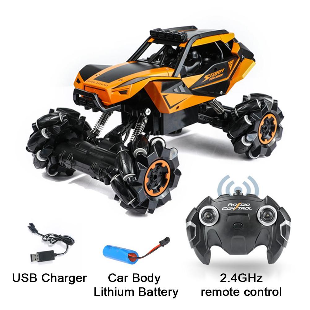 Автомобиль с дистанционным управлением 2,4G четырехколесный Радиоуправляемый электрический грузовик внедорожная Гоночная машина игрушка д...