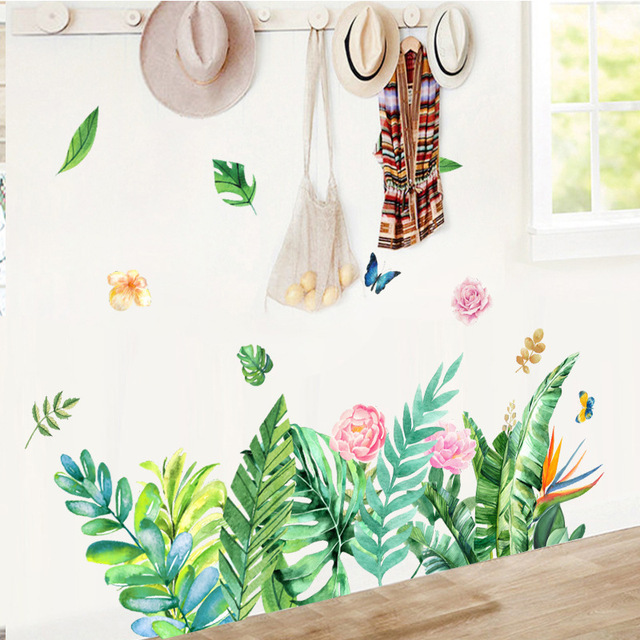 Creative Tropical Tree Leaf Stickers