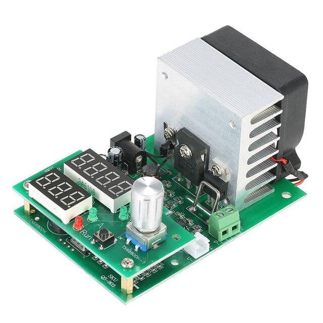 Carga electrónica de corriente constante multifuncional 9.99A 60W 30V descarga módulo probador de capacidad de batería de alimentación