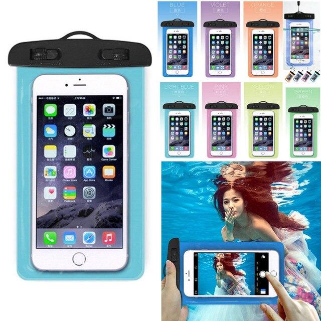 Universal claro do telefone móvel seco bolsa impermeável pvc saco de telefone celular para natação mergulho esportes aquáticos telefone caso saco 105x175mm 1