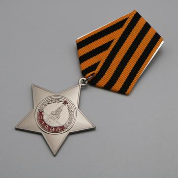 Medal CCCP Order chwały zsrr Medal chwały odznaka 3 klasy tanie i dobre opinie Patriotyzmu Europa RUSSIA Metal