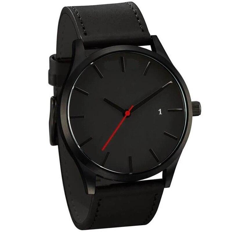 New Fashion Big Dial Military Quartz Men Watch Leather Sport Watches High Quality Clock Wristwatch Montre Homme Horloges Vrouwen