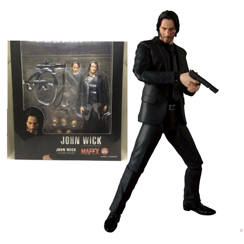 John Wick Killer MAFEX 070 Action Figure 17cm PVC Toys Collections kids Gift UK