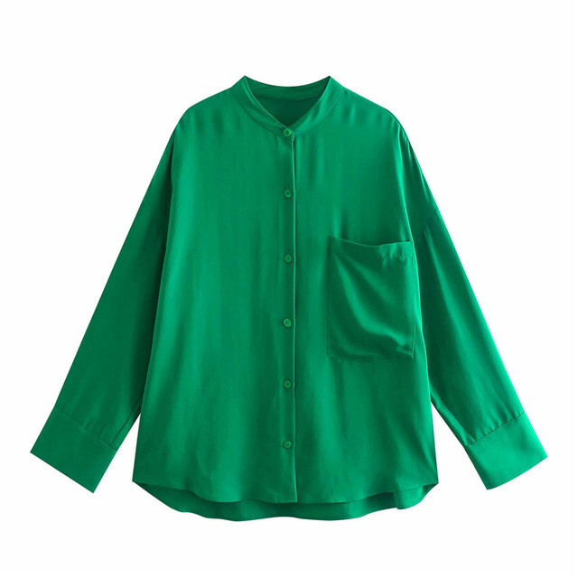 Za 2021 Green High Waist Pants Women Adjustable Elastic Drawstring Waist Vintage Trousers Woman Casual Summer Wide Leg Pants 2