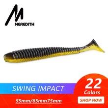Рыболовные приманки MEREDITH Swing Impact, 55 мм, 65 мм, 75 мм, мягкие приманки для рыбалки, морские рыболовные приманки, силиконовые приманки