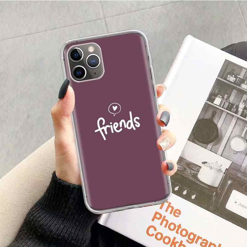 Meilleurs amis BFF étui assorti pour Apple iphone 11 Pro XS Max XR X 7 8 6 6S Plus 5 5S SE 10 dix cadeau Coque de téléphone en Silicone