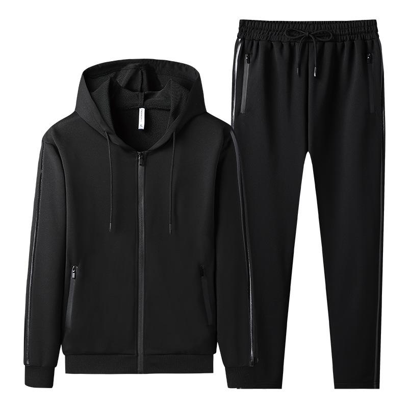Spring Men Tracksuit Streetwear Casual Men's Set 2021 Hoodies Sportswear Mens Two Pieces Set Zipper Jacket+Pants Sports Suit