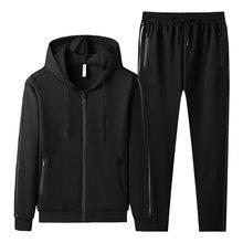 Primavera masculino agasalho streetwear casual conjunto 2021 hoodies dos homens roupas esportivas conjunto de duas peças jaqueta com zíper + calças terno esportivo