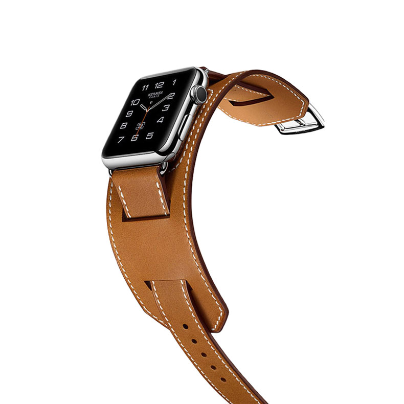 Bracelet cuir Apple Watch série 5/4/3/2/1 style équestre