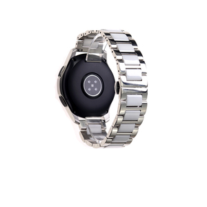 Image 2 - ステンレス鋼シルバーセラミック腕時計ブレスレットサムスンギアスポーツ腕時計ストラップギアs3 s2バンド銀河時計バンド20ミリメートル22ミリメートル