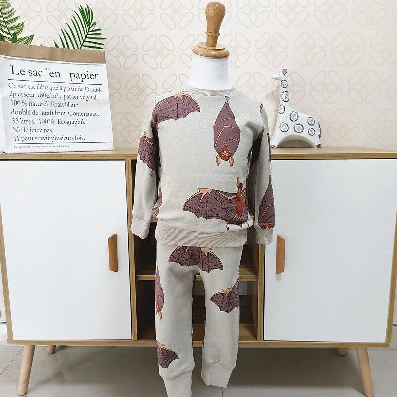 2021 spring autumn boys brand clothes children Hoodies & Sweatshirts boy cotton bat print kids sweatshirts fleece 1