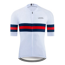 2020 Lecol Pro Team Summer Bike Shirt Men's Cycling Jersey Short Sleeve Sportswear Maillot Ciclismo MTB Breathable Clothing
