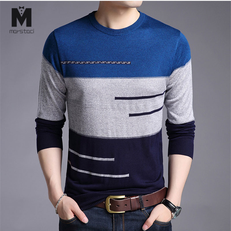 2019 Brand Male Pullover Sweater Men Knitted Jersey Striped Sweaters Mens Knitwear Clothes Sueter Hombre Camisa Masculina