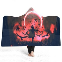 3D Printed Hooded Blanket For Home Travel Picnic Europe Soft Plush Blanket For Sofa Wearable Warm Throw Blanket For Adults Kids halloween hooded blanket for home travel picnic 3d printed portable warm blanket for sofa wearable throw blanket for adults kids