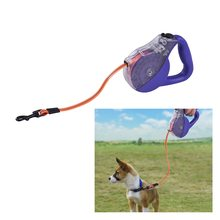 Reflective dog leash waterproof retractable lead rope extendable walking belt traction  Automatic pet safety