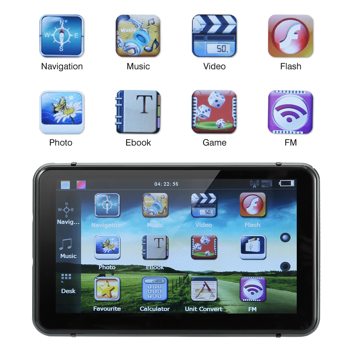 7 дюймов HD Автомобильный gps навигатор FM радио музыка видео MP3 Авто Голосовое руководство gps навигаторы для автомобиля грузовик автобус