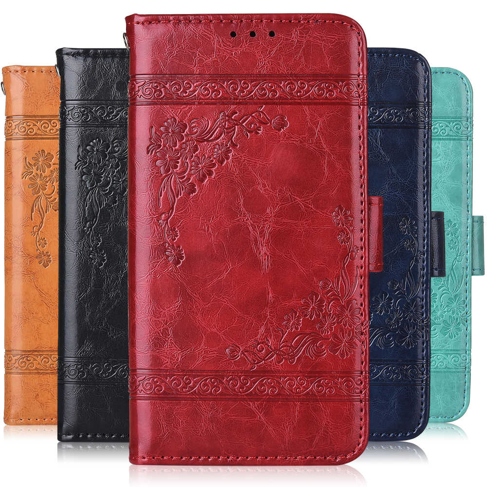 On Blackview A60 Cover Plain Leather Wallet Case for Blackview BV5500 A7 A9 A10 A20 A30 A60 Pro A5 A8 S8 X S6 S8 P60000 Case