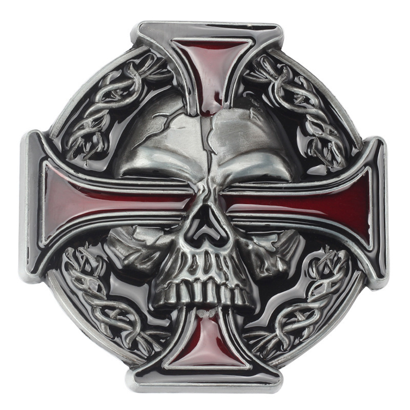 Skull Skeleton Belt Buckle Belt DIY Accessories Western Cowboy Style Smooth Belt Buckle Punk Rock Style K15