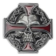 Скелет череп пряжки ремня DIY аксессуары западный стиль ковбойские гладкая пряжки ремня панк-рок стиль К15