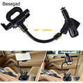 Besegad гибкий прикуриватель автомобильный телефон зарядное устройство держатель Колыбель крепление ж/двойной usb порт зарядки для iPhone 7 6 плюс ...