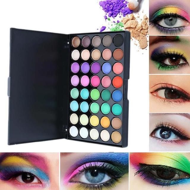 40 Color Eyeshadow Palette Matte Shiny Diamond Eyeshadow Glitter the First Luminous Eye Shadow Female Makeup Palette 4